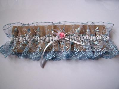 Marinka - objednaný podvazek - něco modrého :)