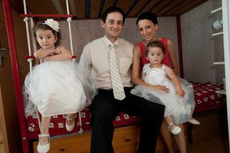 Naše rodinka pět let po naší svatbě