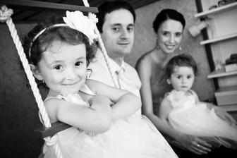 Na sestřiččiné svatbičce..