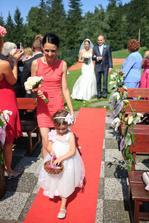 S maminkou na červeném koberci :)