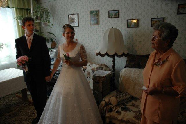 Andrejka{{_AND_}}Macko - Odobierka, ktorú vedie ocinova krstná mama. Mala pripravené veľmi krásne slová, ktoré nás všetkých dojali.