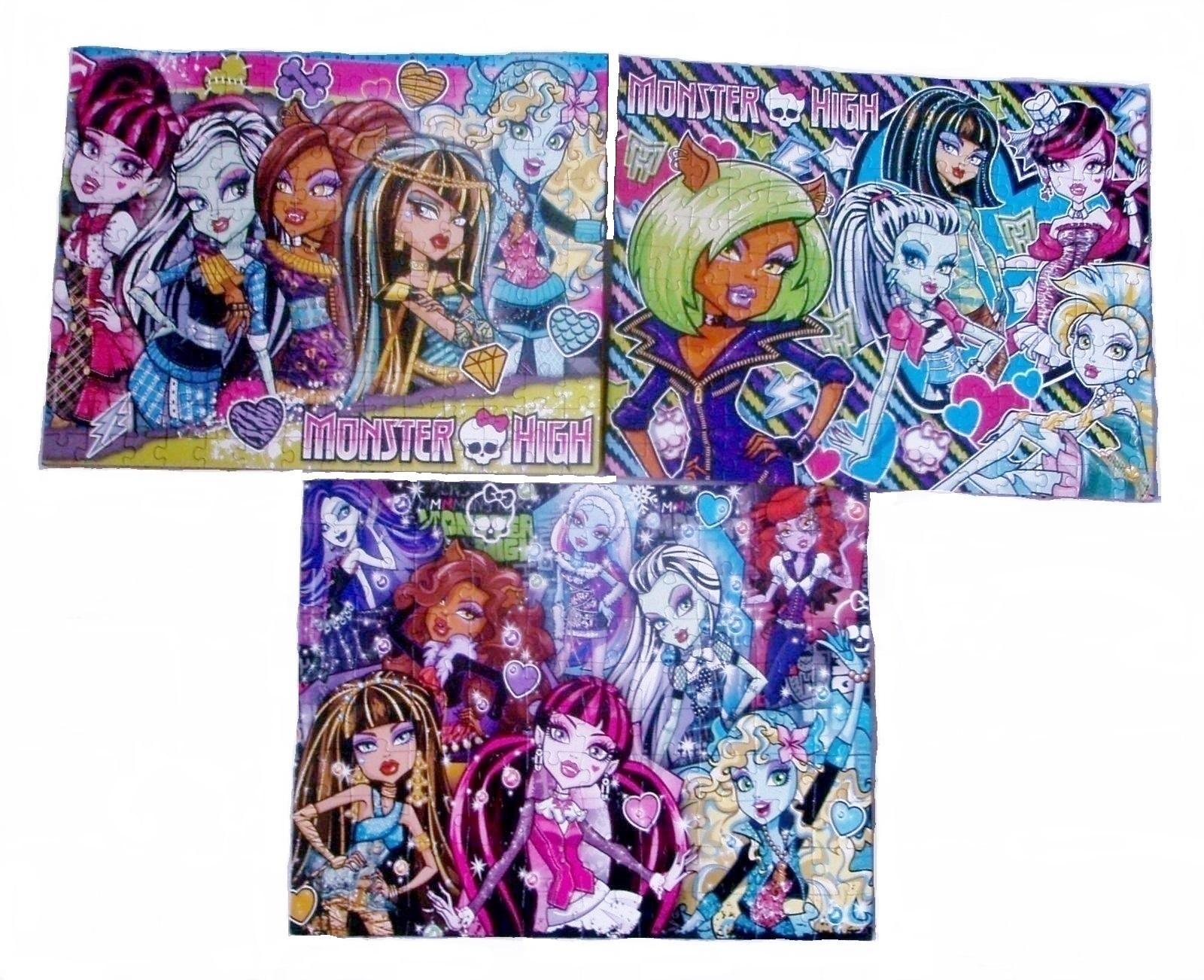 Puzzle Monster High poskladané, zlepené - Obrázok č. 1
