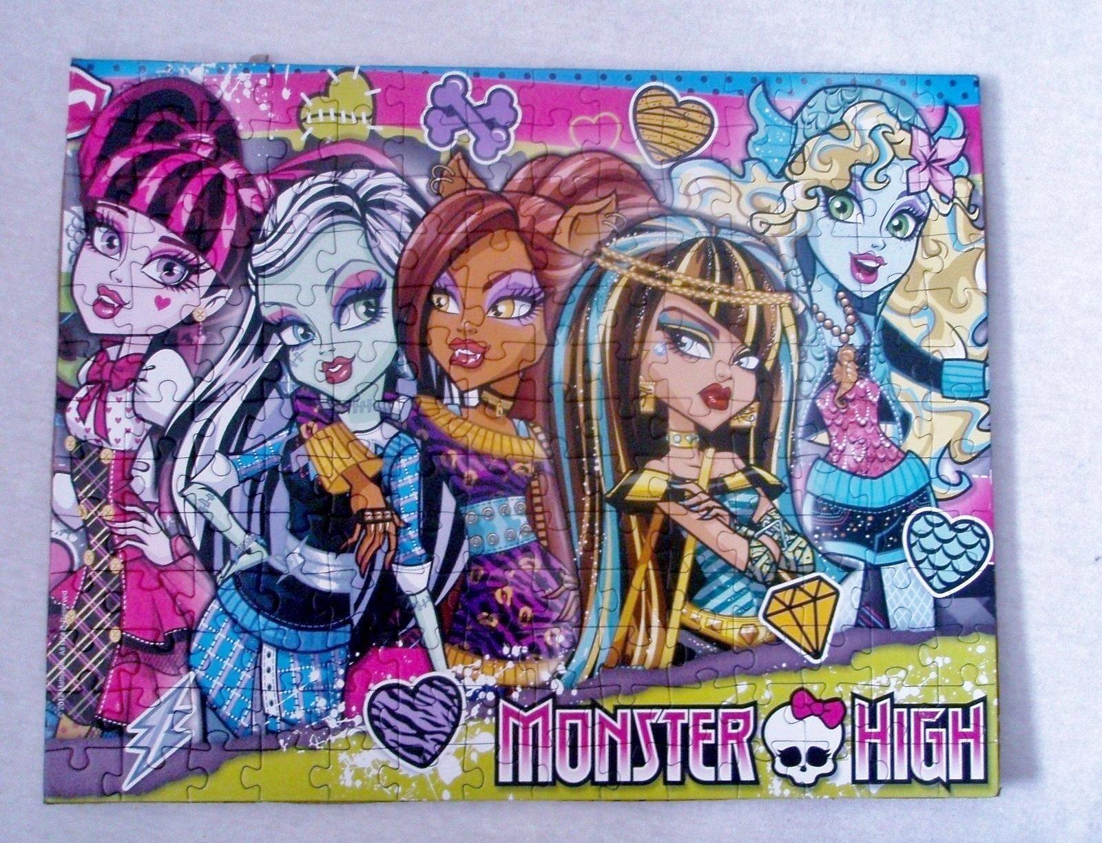 Puzzle Monster High poskladané, zlepené - Obrázok č. 3