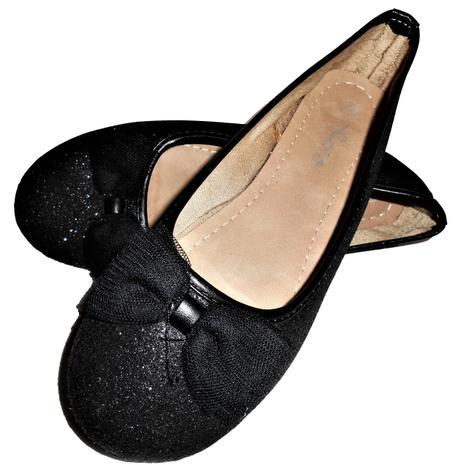 čierne glitrové balerínky veľ. 35 - Obrázok č. 1