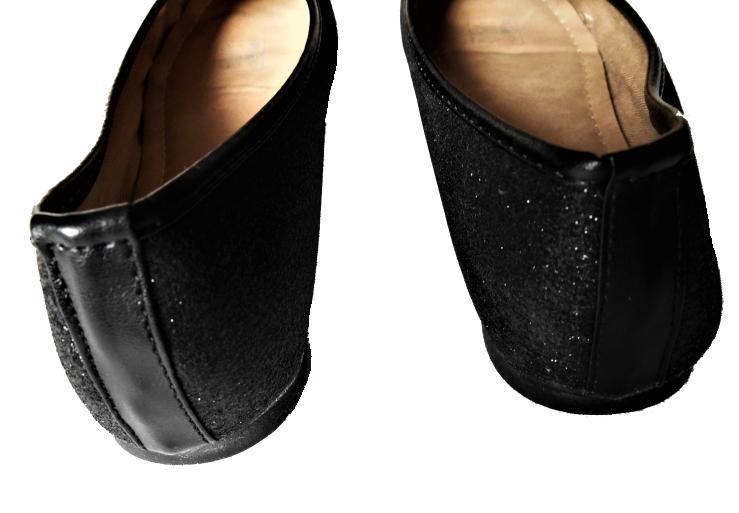 čierne glitrové balerínky veľ. 35 - Obrázok č. 4