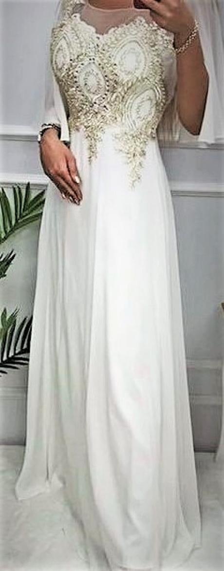 biele spoločenské šaty Pretty Women veľ. 42 - Obrázok č. 1