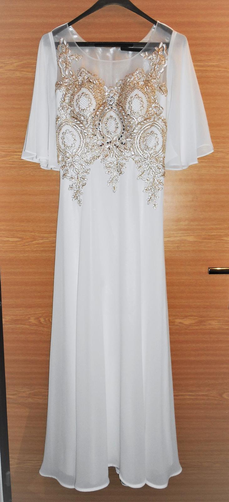 biele spoločenské šaty Pretty Women veľ. 42 - Obrázok č. 2