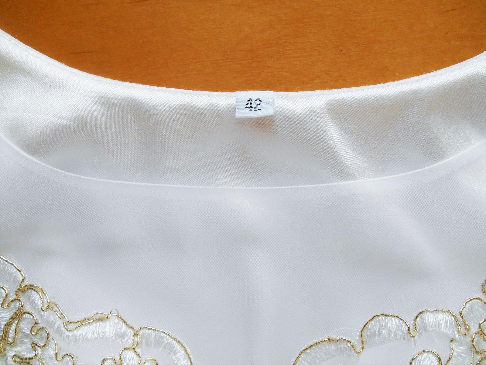 biele spoločenské šaty Pretty Women veľ. 42 - Obrázok č. 3
