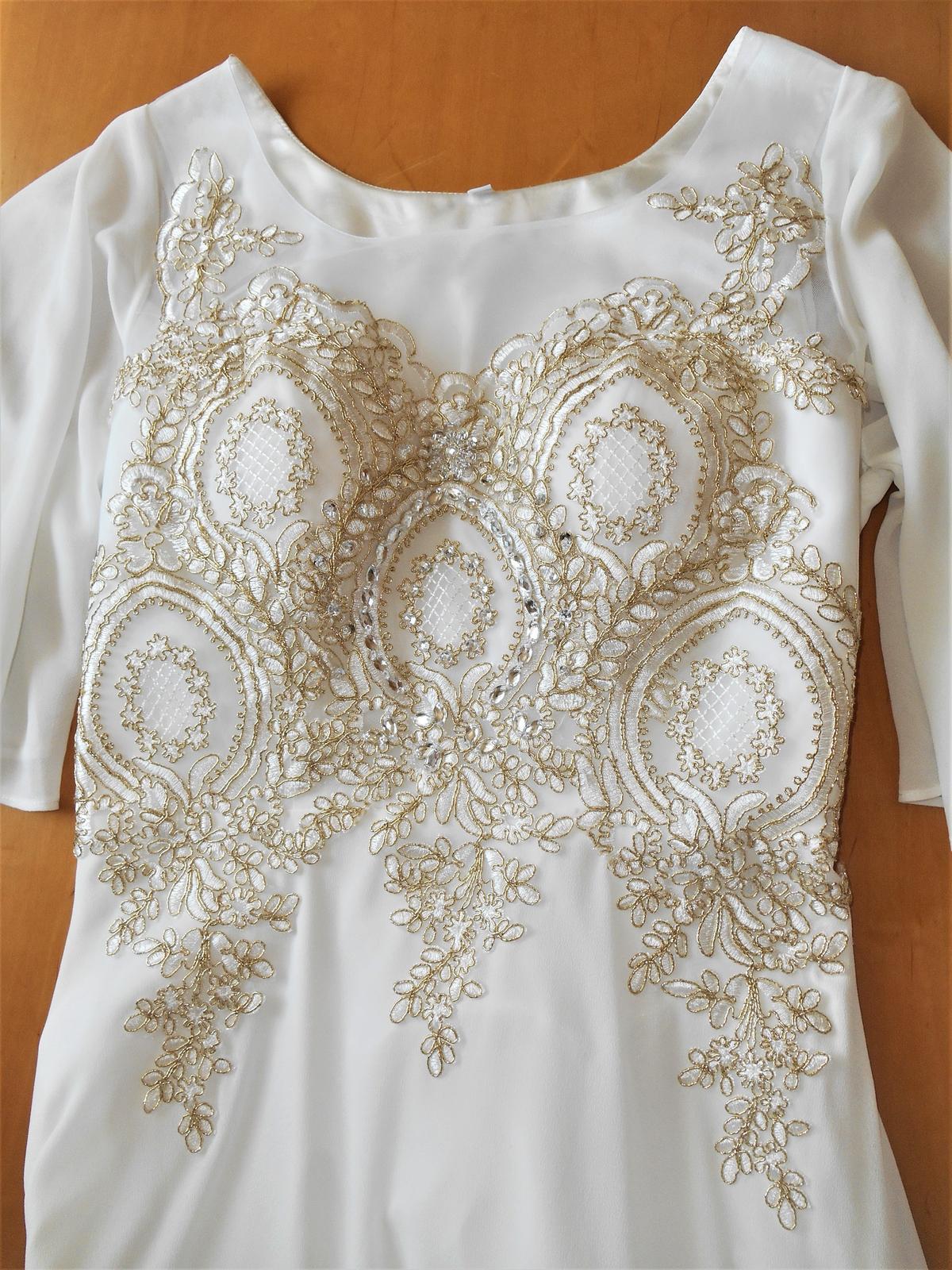 biele spoločenské šaty Pretty Women veľ. 42 - Obrázok č. 4