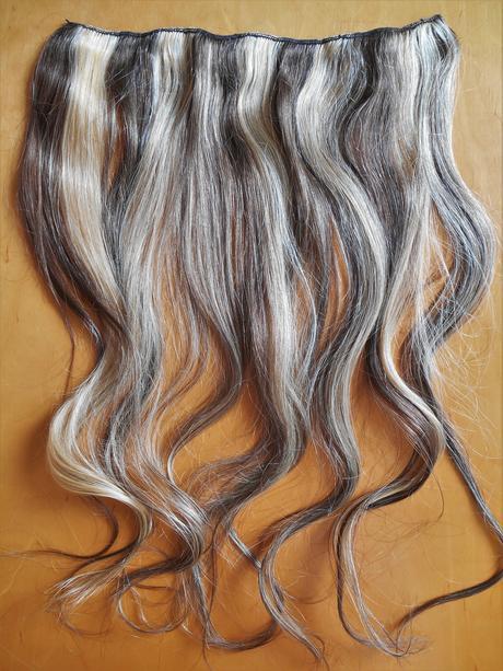 clip-in rýchlo pás 45 cm z pravých vlasov - Obrázok č. 1