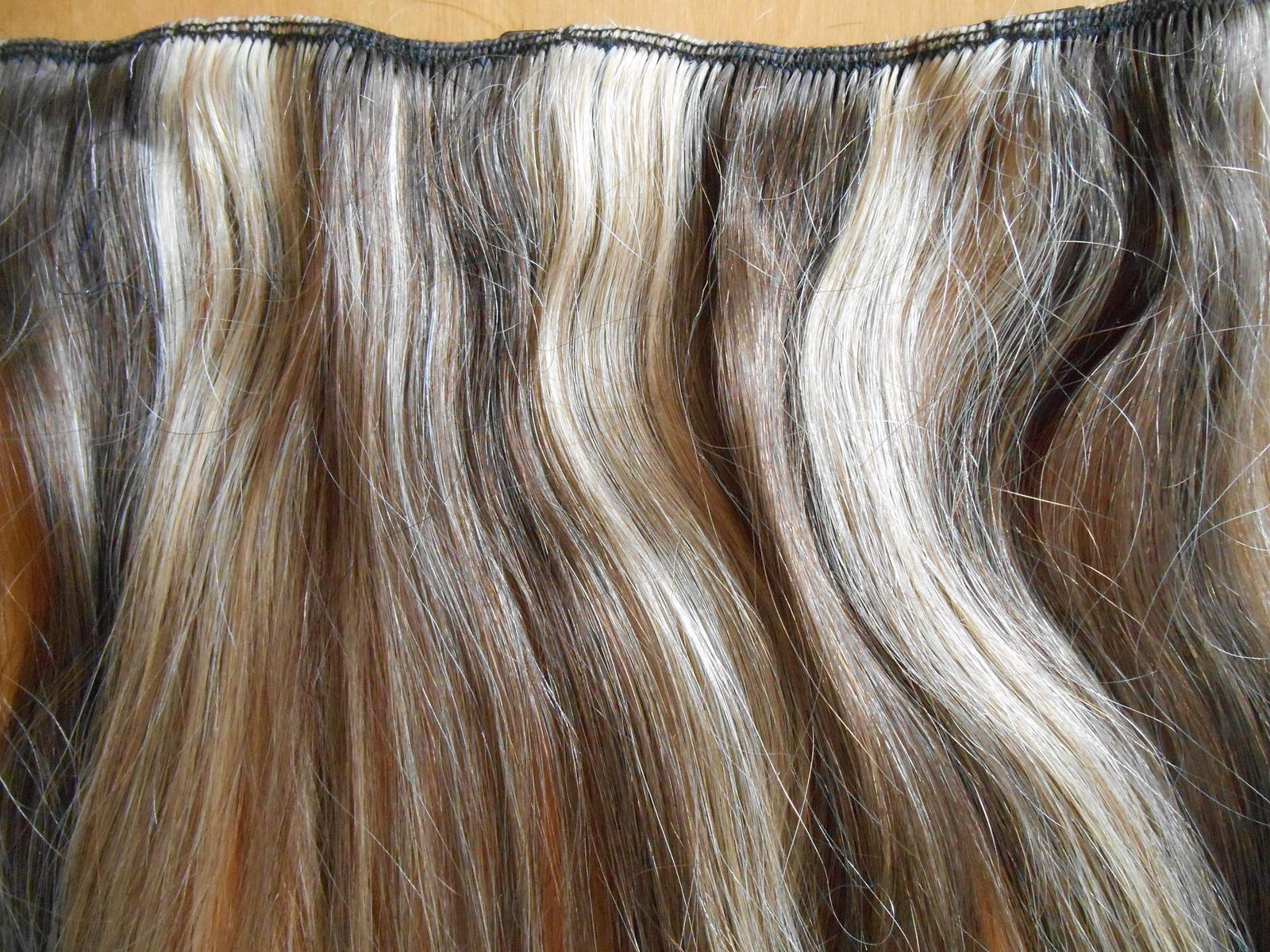 clip-in rýchlo pás 45 cm z pravých vlasov - Obrázok č. 2