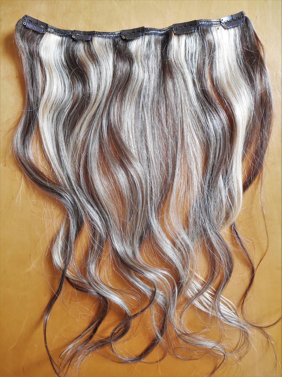 clip-in rýchlo pás 45 cm z pravých vlasov - Obrázok č. 3