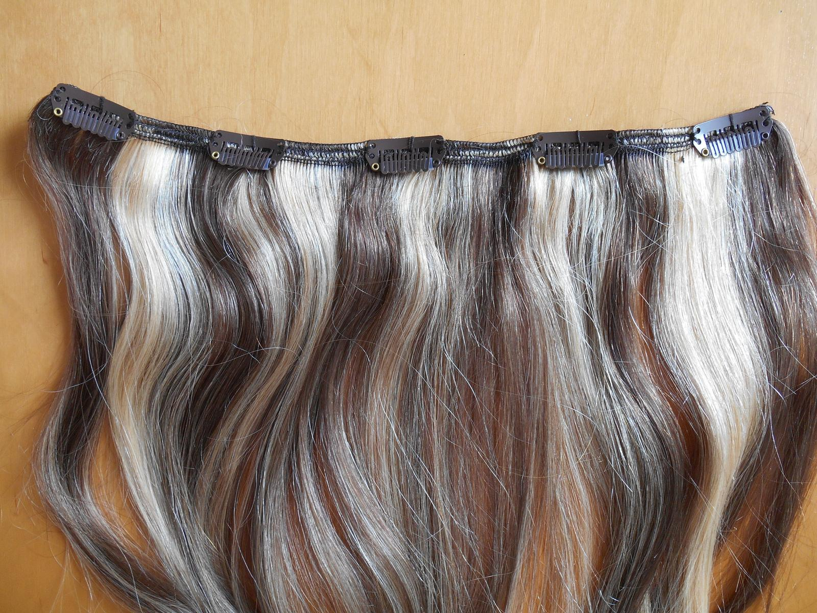 clip-in rýchlo pás 45 cm z pravých vlasov - Obrázok č. 4