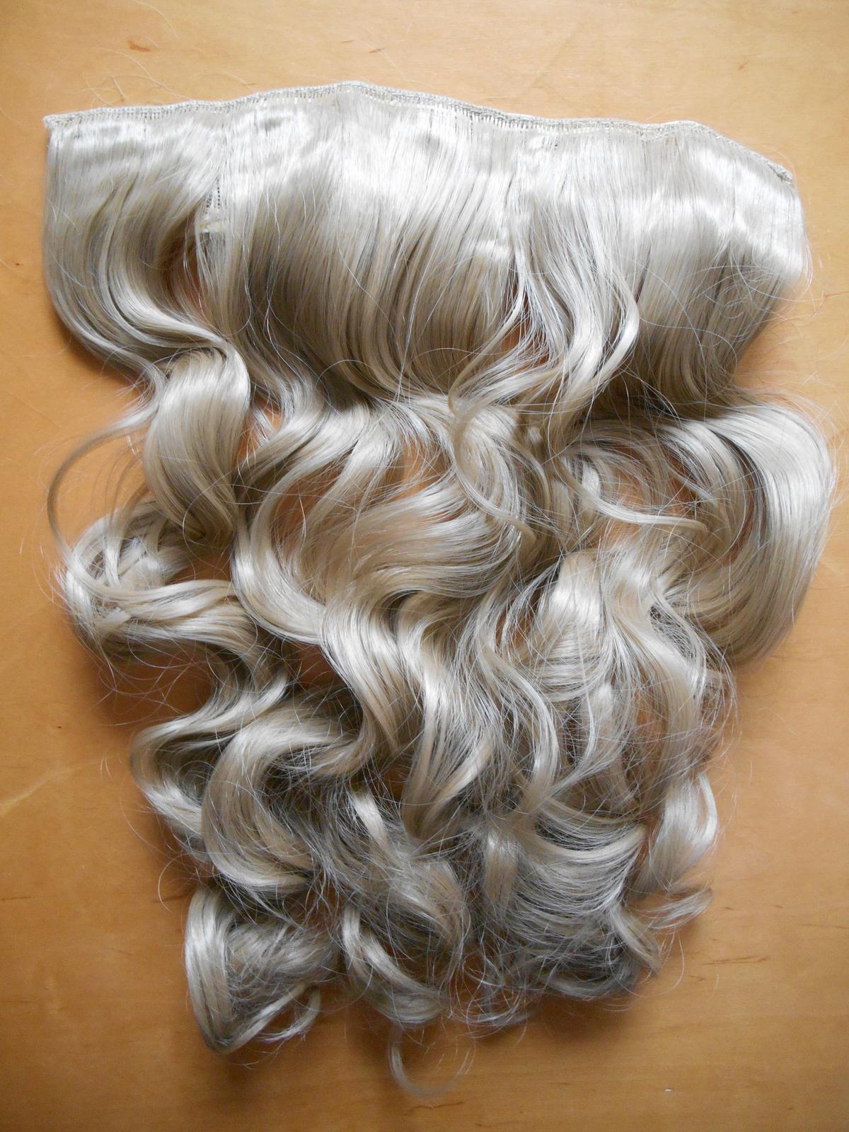 Clip in vlasový pás lokne 55 cm odtieň 24 - Obrázok č. 1