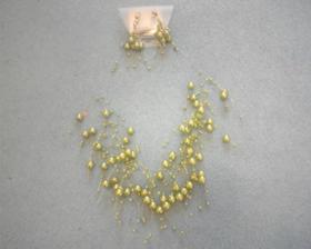 náhrdelník a náušnice na svatbu