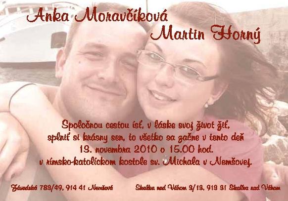 Príprava na svadbu :-) - naše svadobné oznámenie :-)