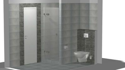 konečný návrh koupelny