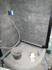 vyzdění sprchového koutu ještě bez obkladu