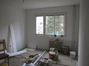 srovnané zdi v pokojích stav 13.11.