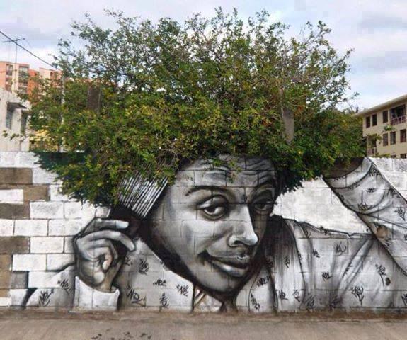 Inspirácie na úpravu. - chcem takého sprayera ... mám presne taký múr aj strom.. chcem taký obrázok...