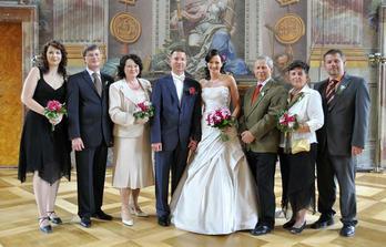 S rodiči a se svědky