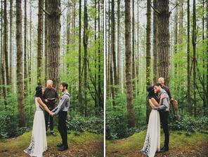 krásný obřad v lese :)