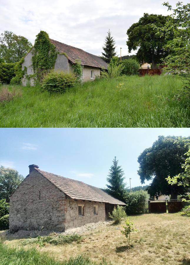 ..our rustic cottage.. - ..srovnání - týdenní rozdíl..