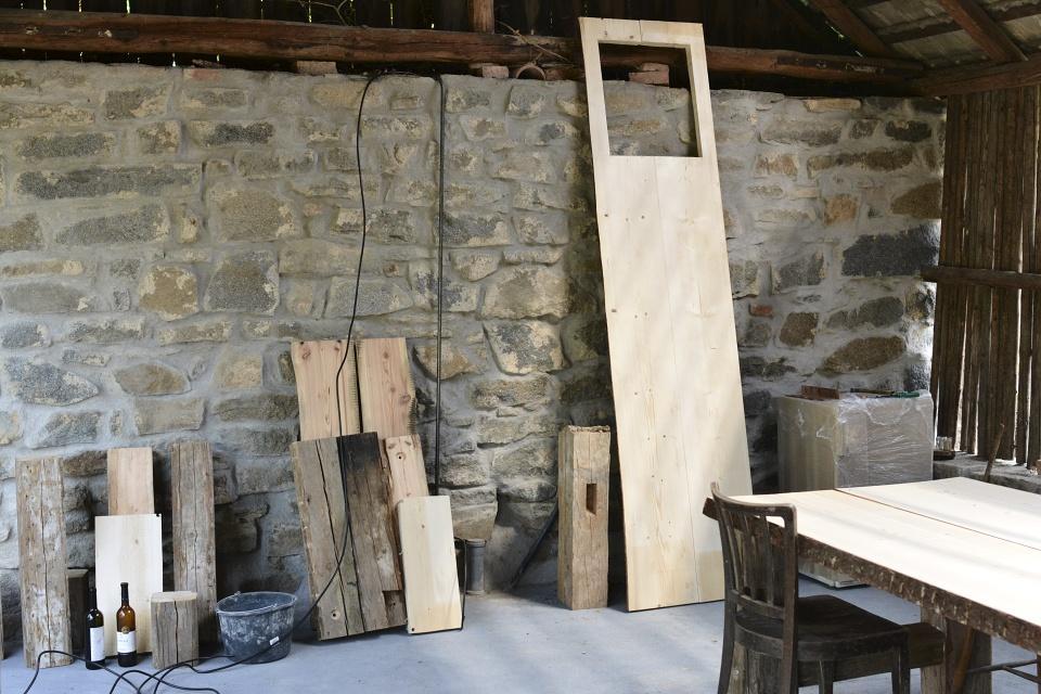 ..our rustic cottage.. - ..kuchyňská linka před montáží