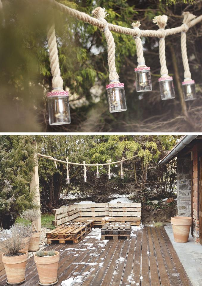 ..our rustic cottage.. - S manželem jsme se do tohoto nápadu tak zamilovali, že už je osvětlení hotovo. :-)