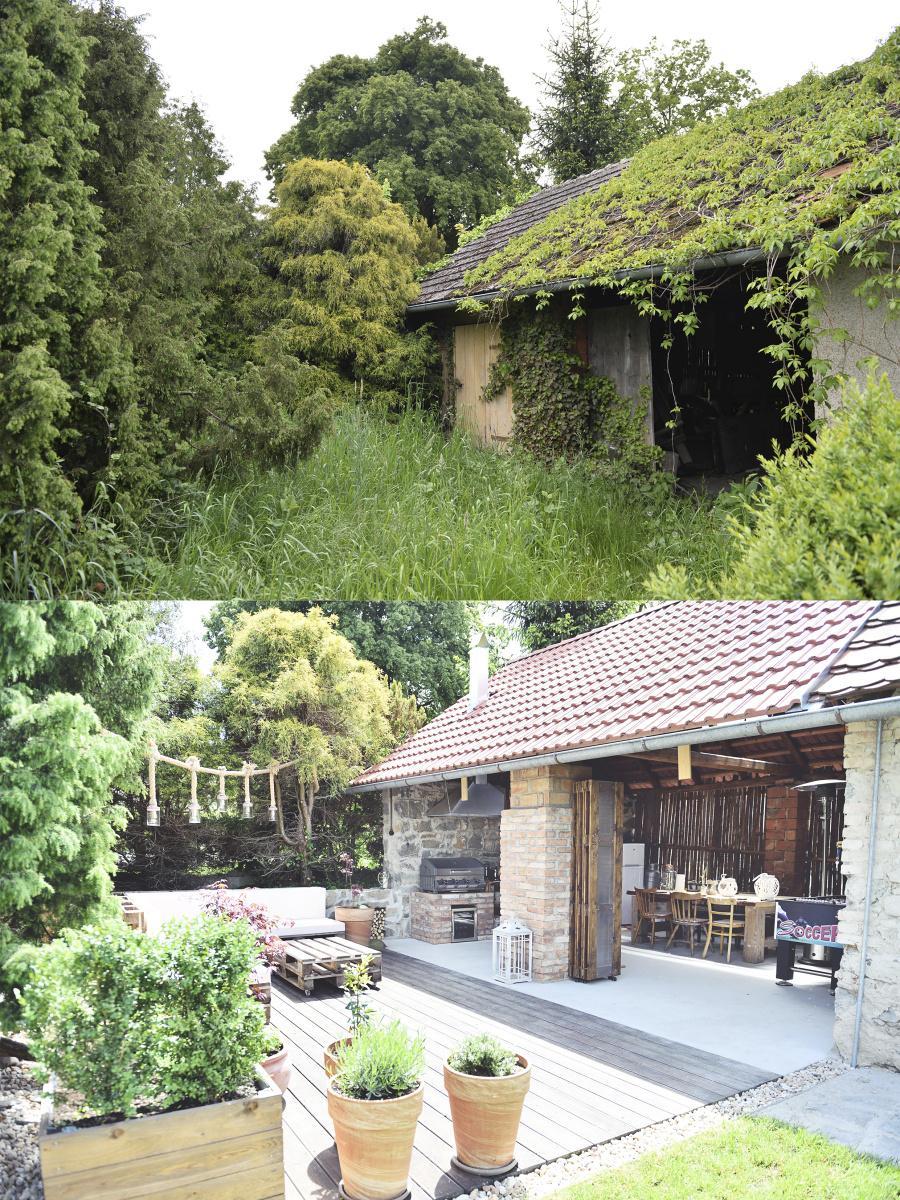 ..our rustic cottage.. - ..srovnávací - stodola s terasou před rokem a dnes. Můj muž tvrdí, že už tenkrát viděl, to co je tam dnes ;-)