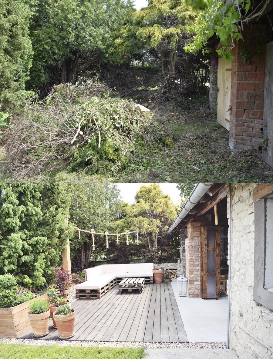..our rustic cottage.. - foto nahoře - první den co jsme dostali klíče a dole aktuální foto ;-)