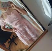 ružove šaty, S