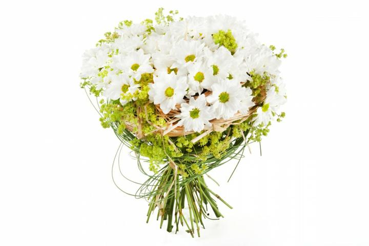 Zeleno- zlata vyzdoba s chryzantemami - Namety na svadobnu kyticu