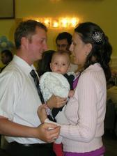 princeznička Terezka s maminkou a tatinom