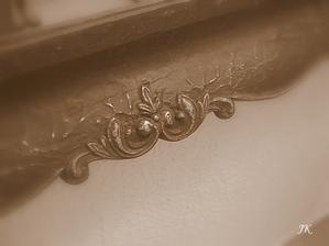 detail starého rámu