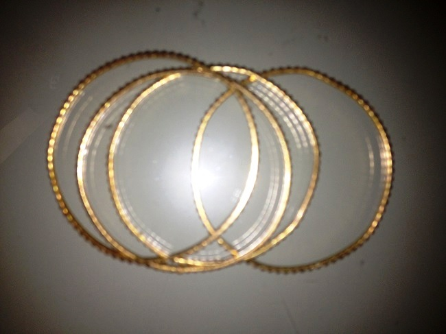 4 tenté zlaté náramky - Obrázok č. 1