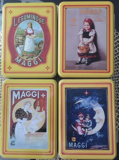 4 ks retro MAGGI plechovky - Obrázok č. 1