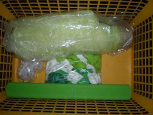 vroubkovaný papír na srdíčka a koupená organza s balonkama.