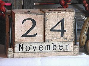 retro kalendář - zkusím doma vyrobit :)
