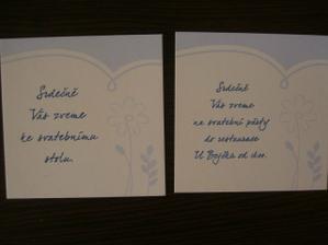 Pozvánky ke stolu a na raut