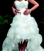 Princeznovske svadobne saty+závoj v.36-40 , 38