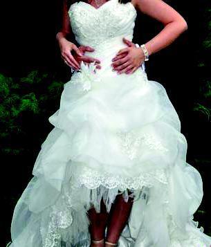 Princeznovske svadobne saty+závoj v.36-40  - Obrázok č. 1