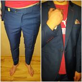 Modrý oblek, veľkosť 52, 52