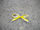 Bílo-žluté mašličky.,