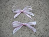 Bílo-růžové mašličky.,