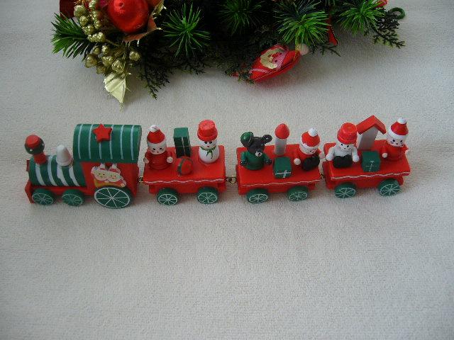 vianocny dreveny vlačik - Obrázok č. 1