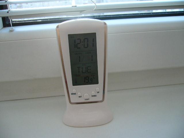 digitalne hodiny s teplomerom - Obrázok č. 1