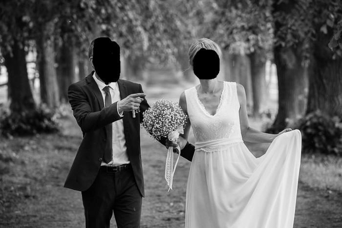 svatební šaty šité na zakázku 36 - 38 - Obrázek č. 1