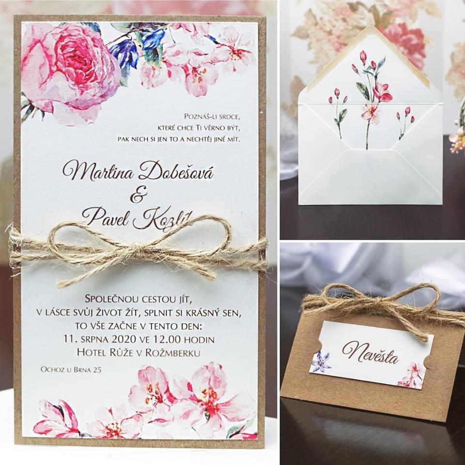 Svatební oznámení, tiskoviny a krabičky - Obrázek č. 31