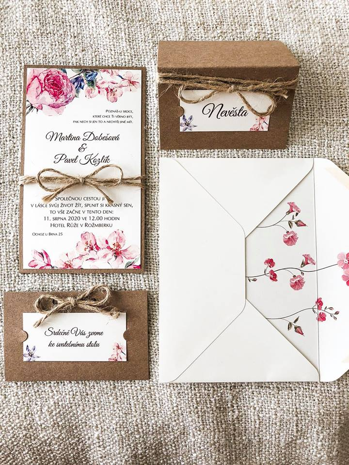 Svatební oznámení, tiskoviny a krabičky - Obrázek č. 37